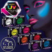 Neon UV black light face powder blush