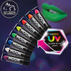 Neon UV black light lipstick