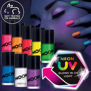 Neon UV black light nail polish