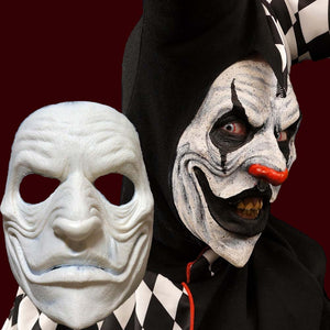 Jester creepy clown appliance mask