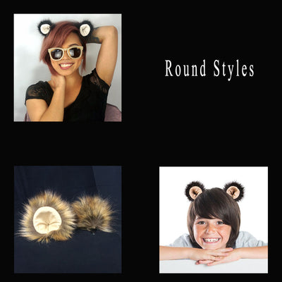 Furry Ears - Round