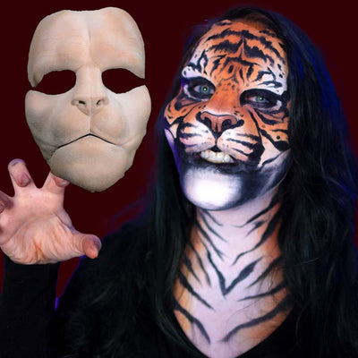 Tiger makeup prosthetic mask