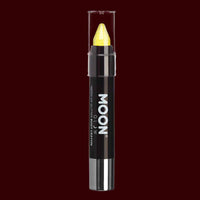 Yellow Neon UV glitter body crayon