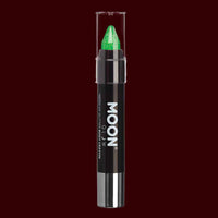 Green Neon UV glitter body crayon
