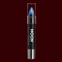 Blue Neon UV glitter body crayon