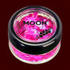 Magenta UV blacklight chunky glitter