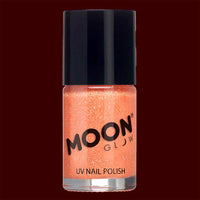 Orange Neon UV glitter nail polish