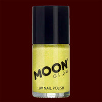 Yellow Neon UV glitter nail polish