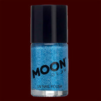 Blue Neon UV glitter nail polish