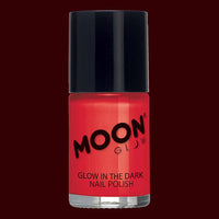 Red glow in the dark nail polish
