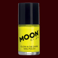 Yellow glow in the dark nail polish