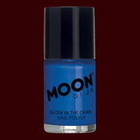 Blue glow in the dark nail polish