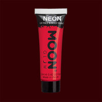 Red neon UV black light liquid makeup