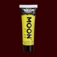 Yellow neon UV black light liquid makeup