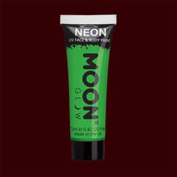 Green neon UV black light liquid makeup