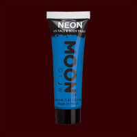 Blue neon UV black light liquid makeup