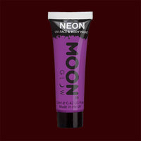 Violet neon UV black light liquid makeup