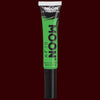 Green neon black light hair streak makeup
