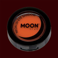 Orange neon black light UV eyeshadow