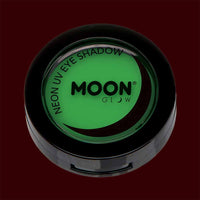 Green neon black light UV eyeshadow