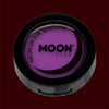 Violet neon black light UV eyeshadow