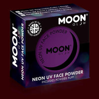 Violet  neon UV black light face powder blush