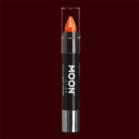 Orange neon UV body makeup crayons