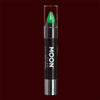 Green neon UV body makeup crayons