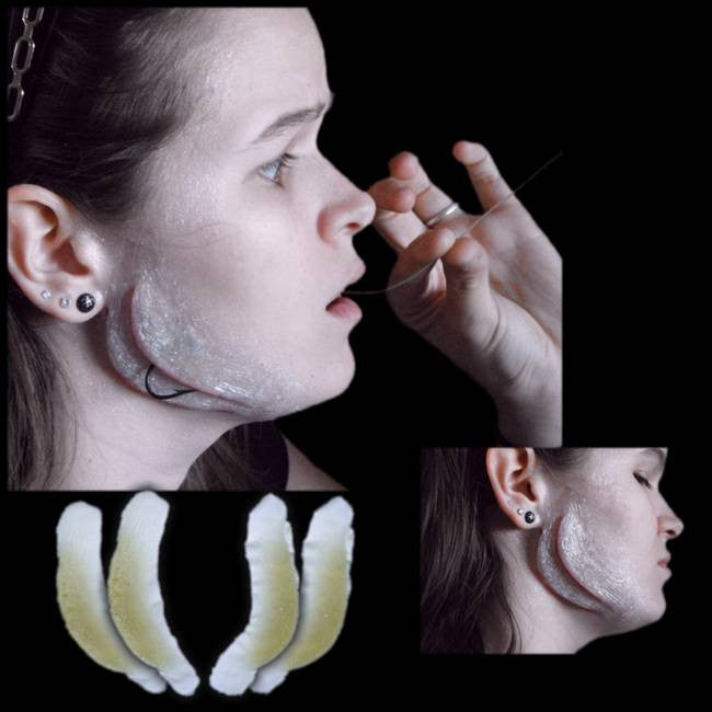 Fish gills appliance makeup FX