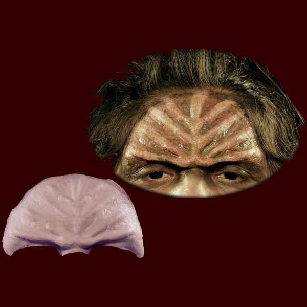 Klingon forehead brow appliance makeup