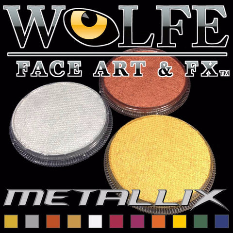 Water activated metallic makeup by Wolfe FX