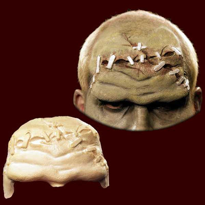 Frankenstein monster forehead prosthetic makeup