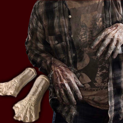 foam latex veiny zombie creature hand backs