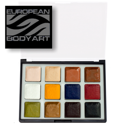 European Body Art alcohol activated master makeup palette