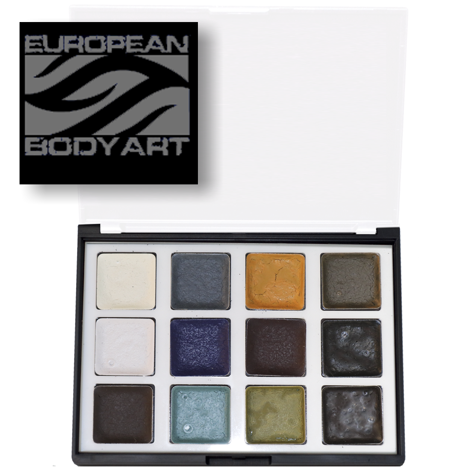 Undead alcohol activated skin tone makeup palette by European Body Art