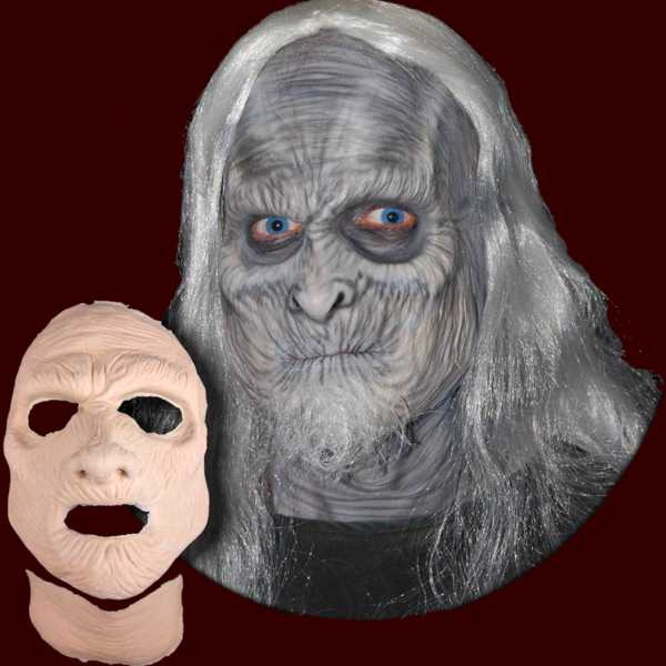 White Walker makeup on Mummy appliance mask