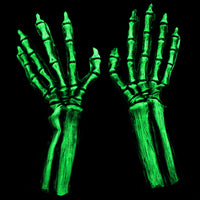 UV Reactive Green Skeleton Gloves