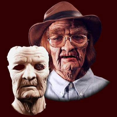 old age latex halloween mask makeup prosthetic