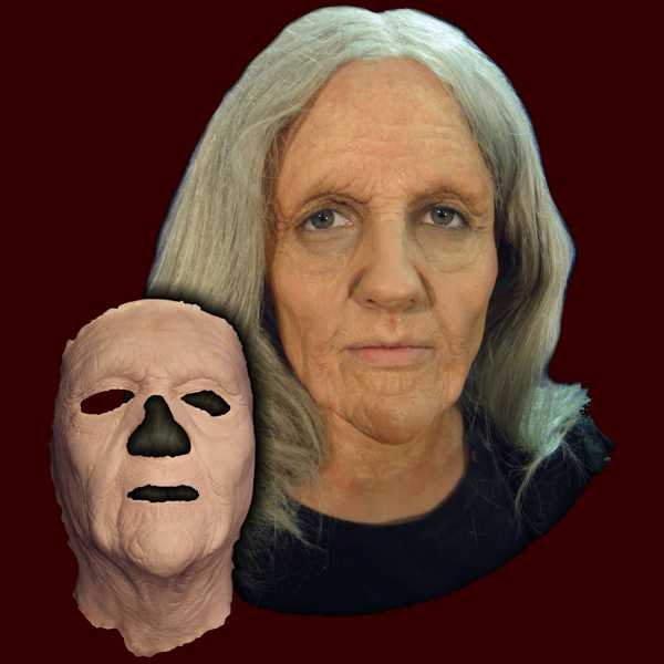 Old woman Halloween prosthetic mask