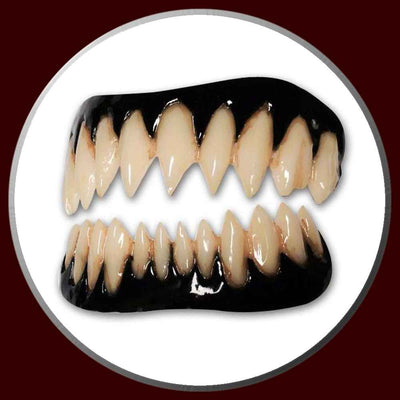 Pennywise pointed costume teeth with black gums