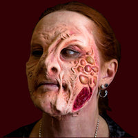 Diseased zombie with boyles prosthetic makeup