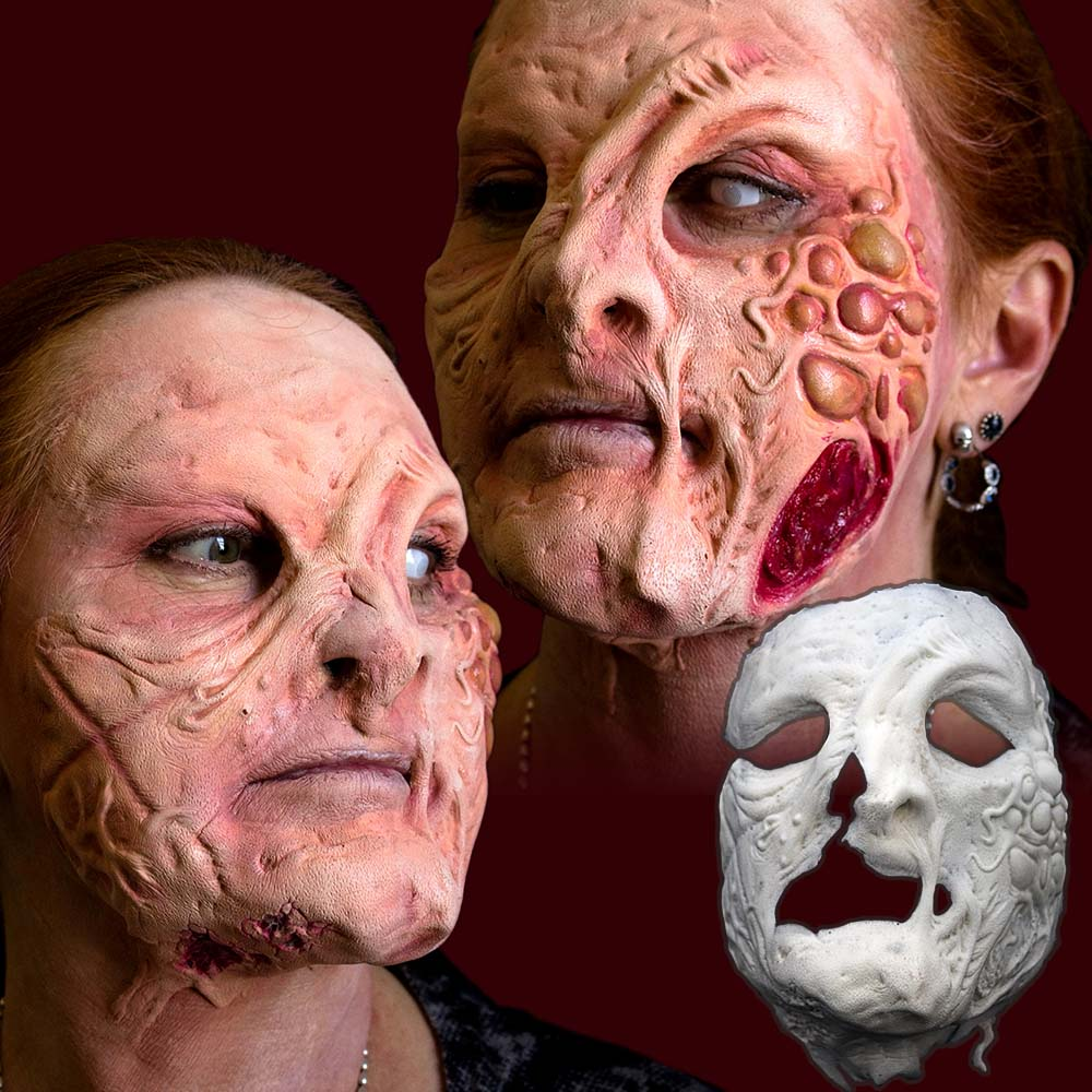 Diseased zombie plague prosthetic makeup
