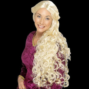 Blond renaissance woman wig