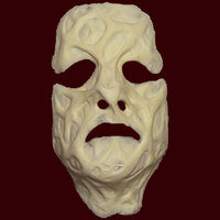 Foam latex burrned and scarred face FX makeup mask