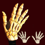 Skeleton bone hands makeup glove hand backs