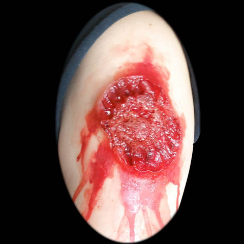 Large bite wound special effects makeup