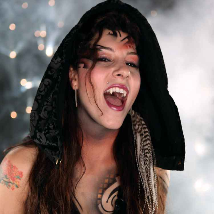 Scarecrow vampire fangs in small sexy deluxe vampire fangs