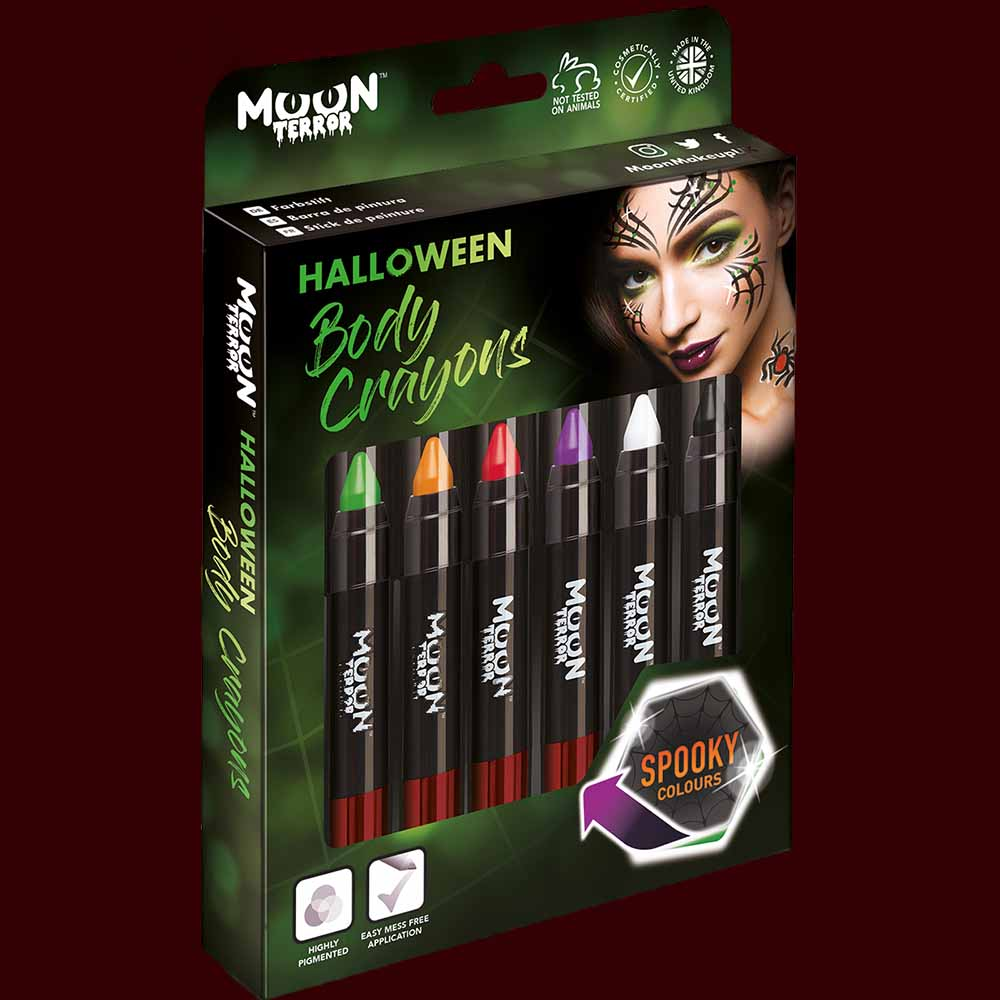 Set of 6 Halloween makeup body crayons
