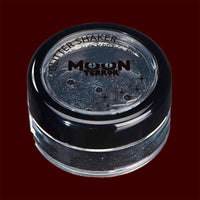 Black Halloween costume makeup glitter