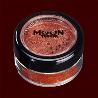 Orange Halloween costume makeup glitter